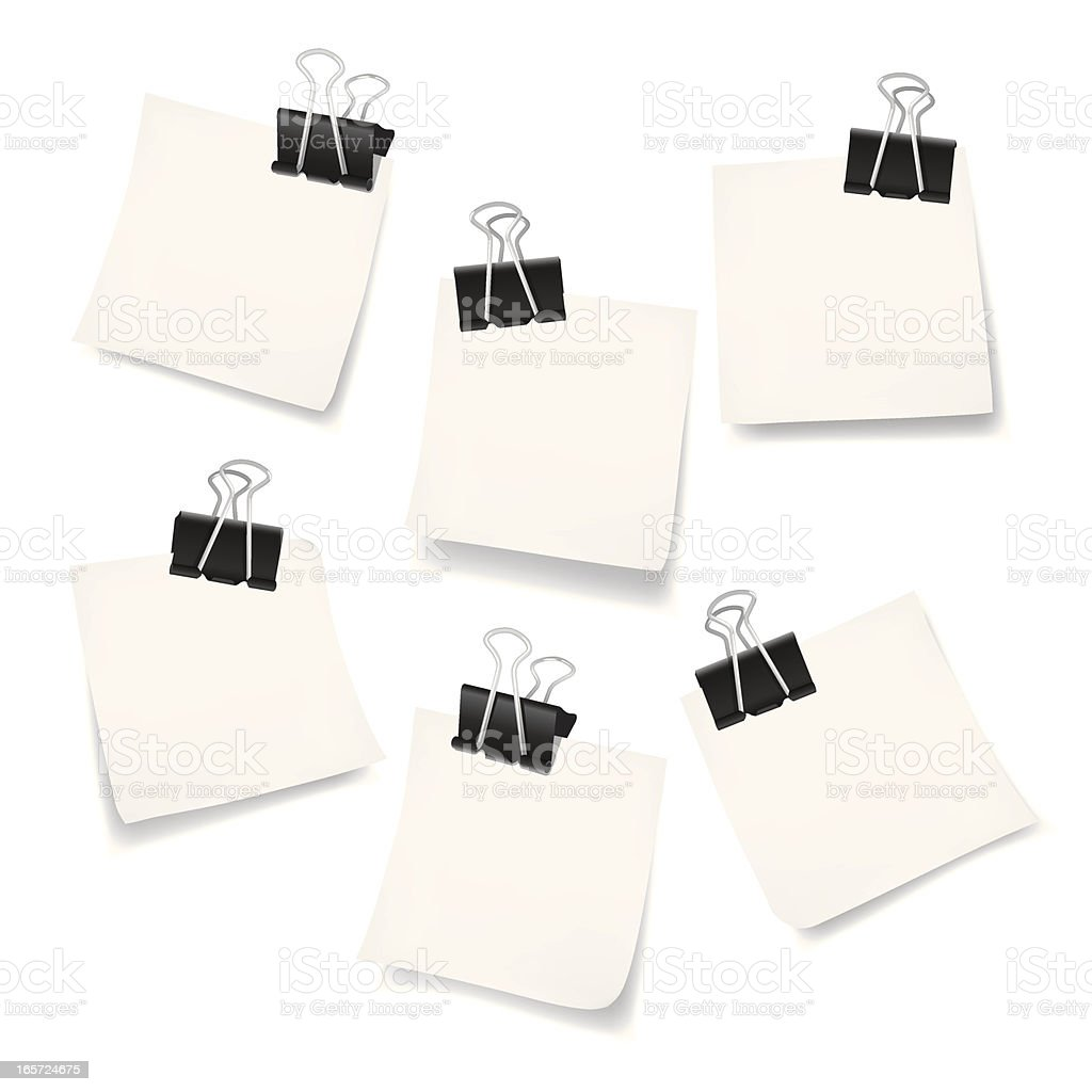 White Adhesive Note royalty-free stock vector art
