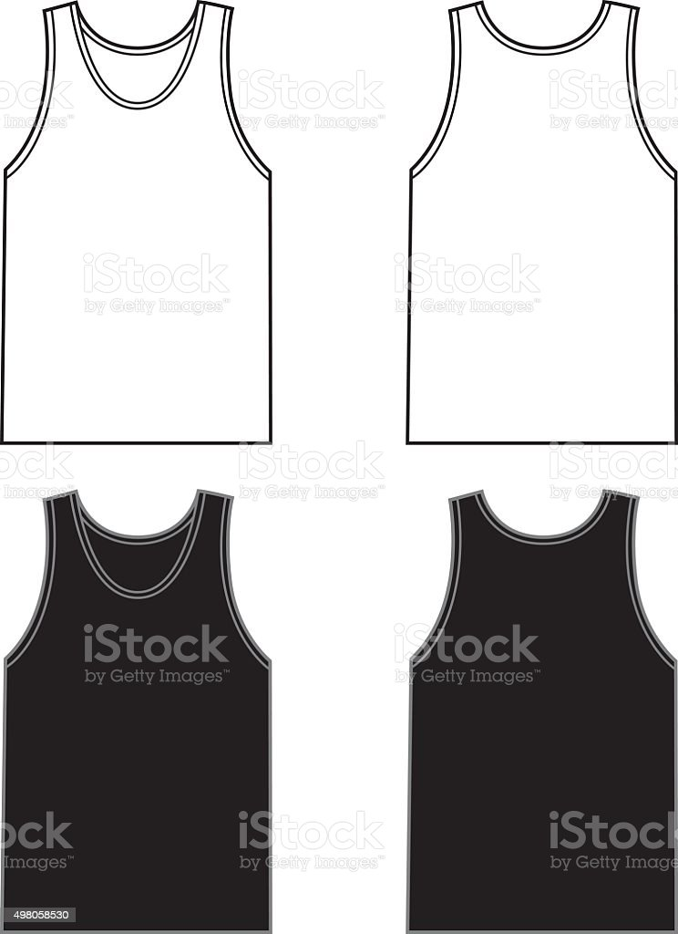 White And Black Tank Tops vector art illustration