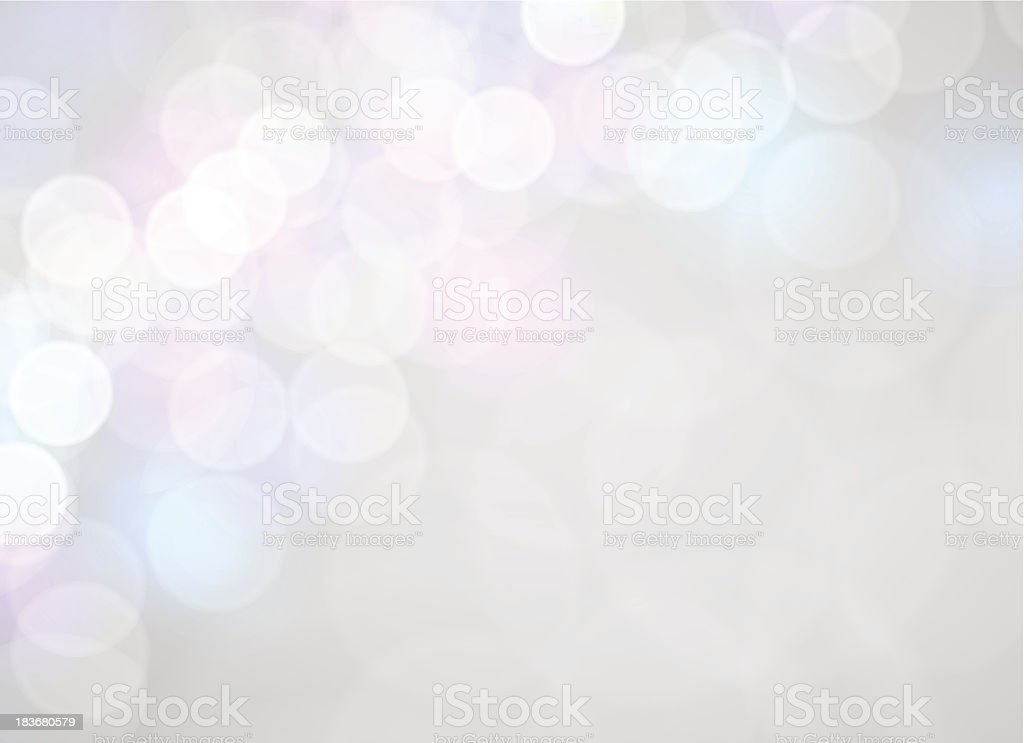 White and silver abstract bokeh background vector art illustration