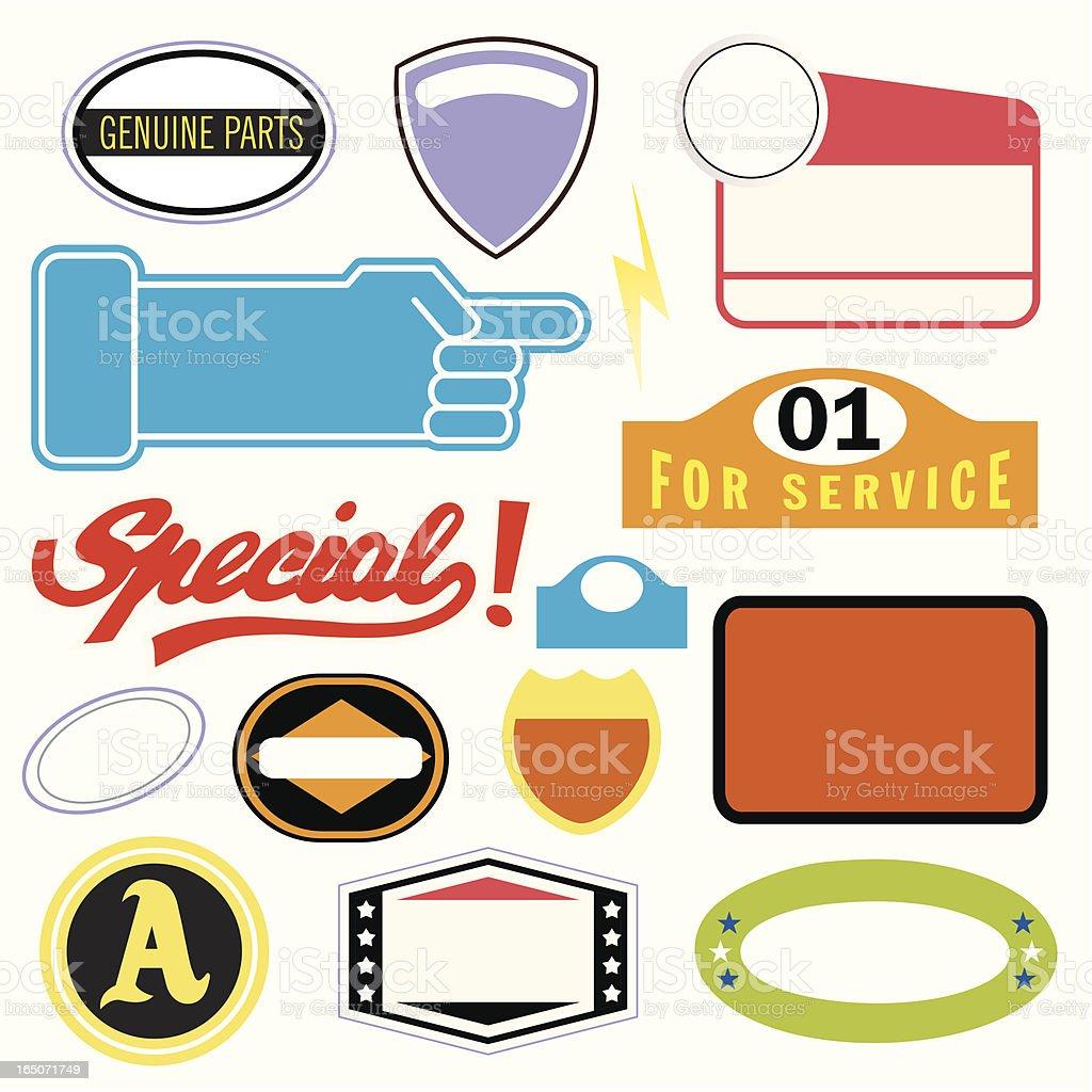 White Auto Stickers vector art illustration