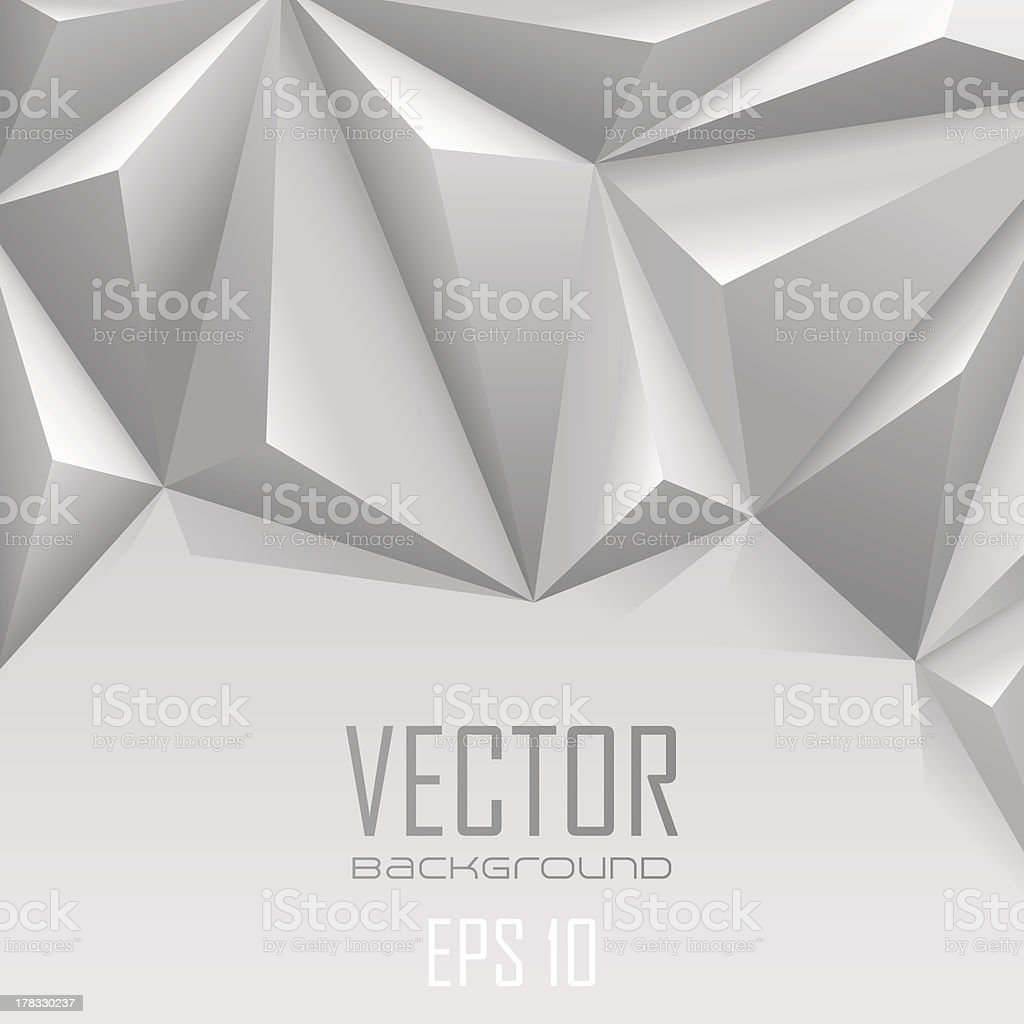White Background abstract triangle polygon style royalty-free stock vector art