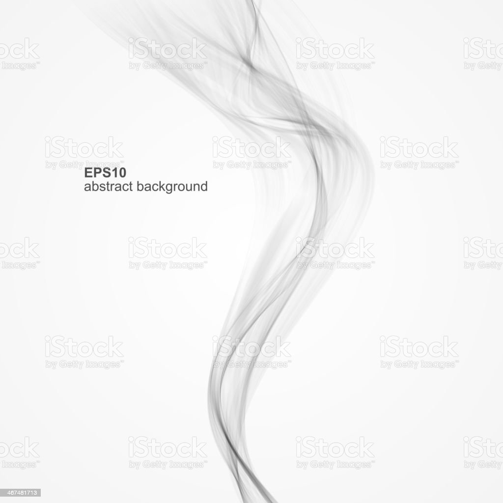 White background template with grey smoke vector art illustration