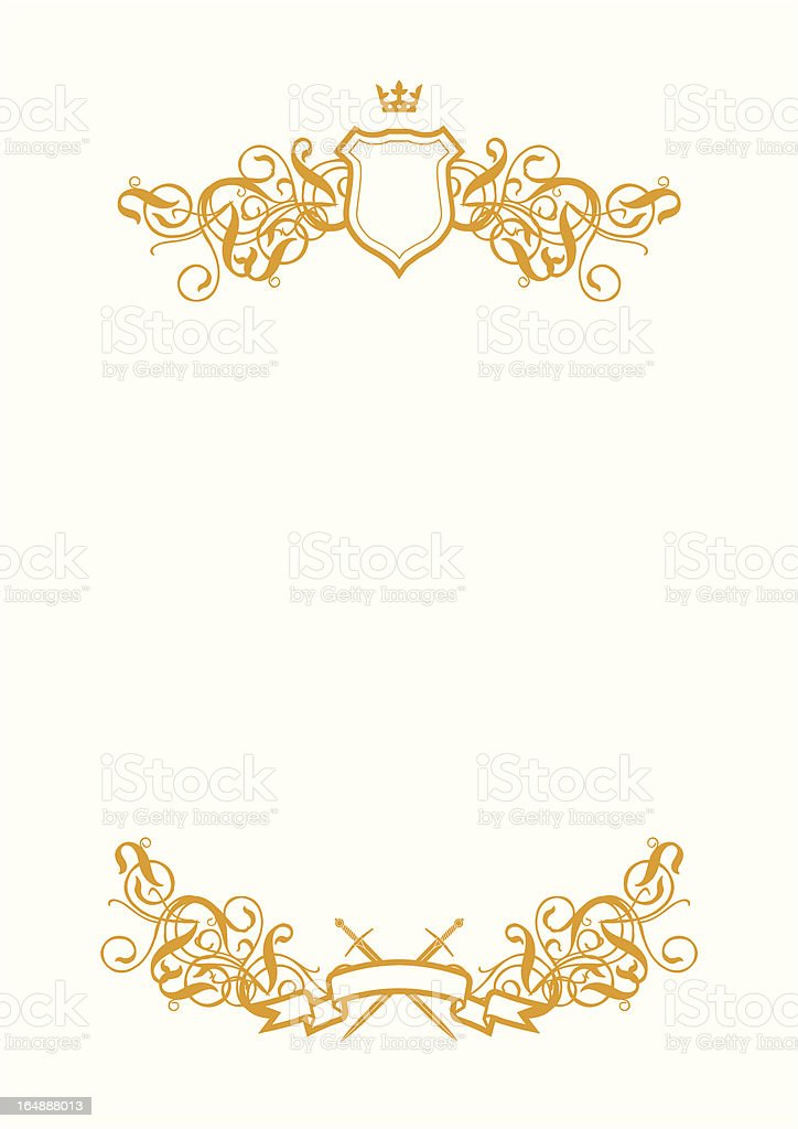 White Background With Shield royalty-free stock vector art
