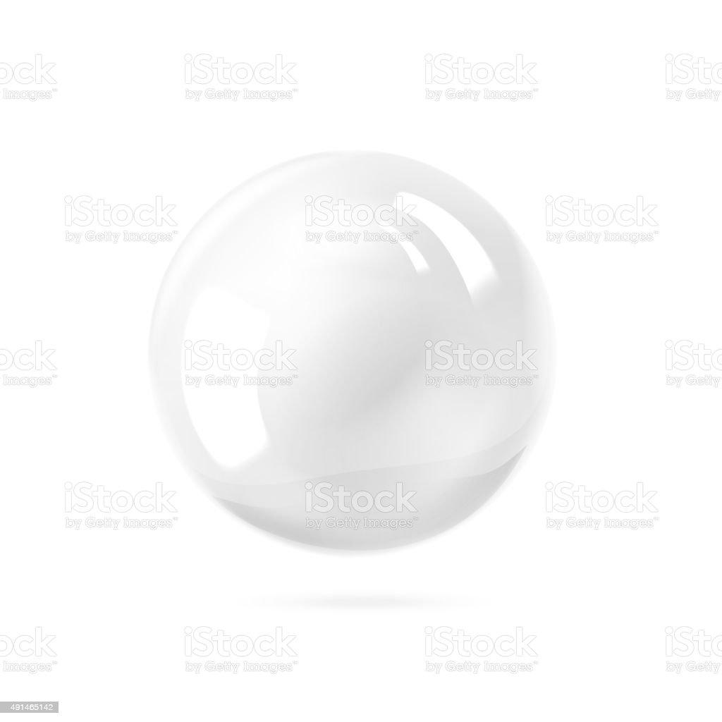 White ball vector art illustration