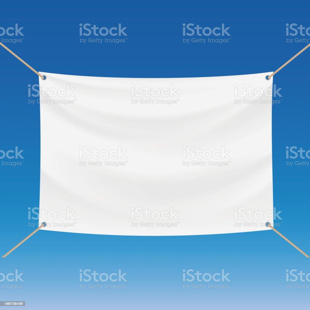 White banner vector art illustration