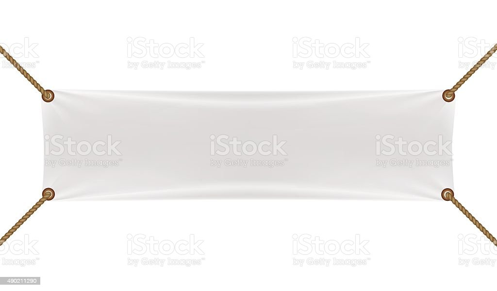 White banners with garters vector art illustration