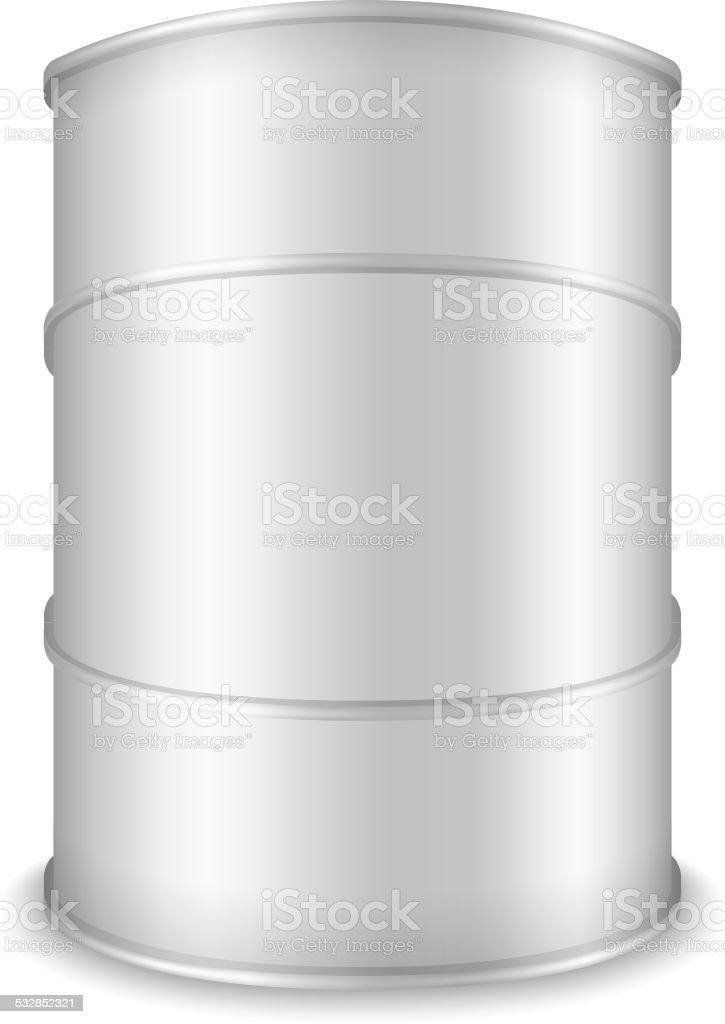 White Barrel vector art illustration