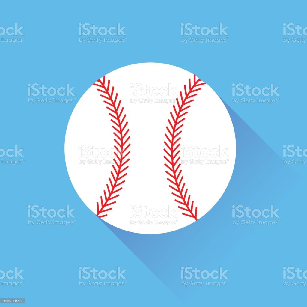 White Baseball Icon vector art illustration