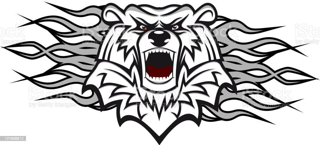 White bear mascot royalty-free stock vector art