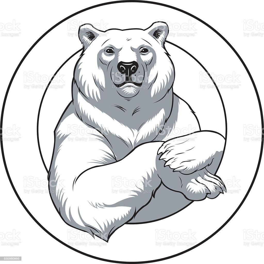 white bear royalty-free stock vector art