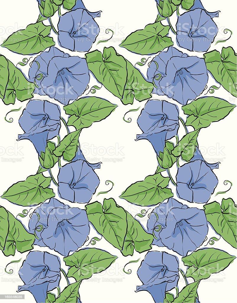 White Bindweed Seamless Pattern royalty-free stock vector art