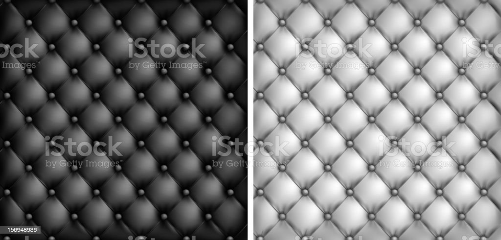 White & black leather upholstery background royalty-free stock vector art