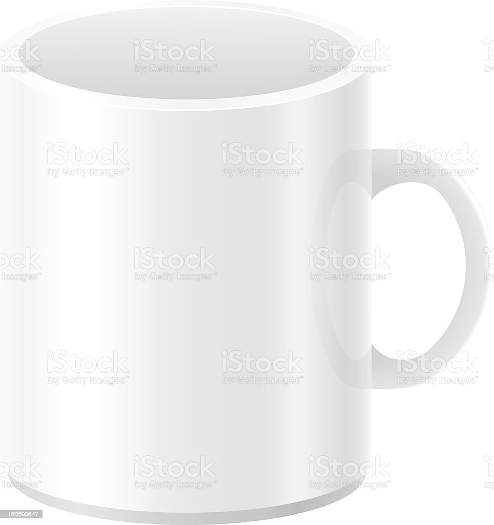 white blank cup vector illustration royalty-free stock vector art