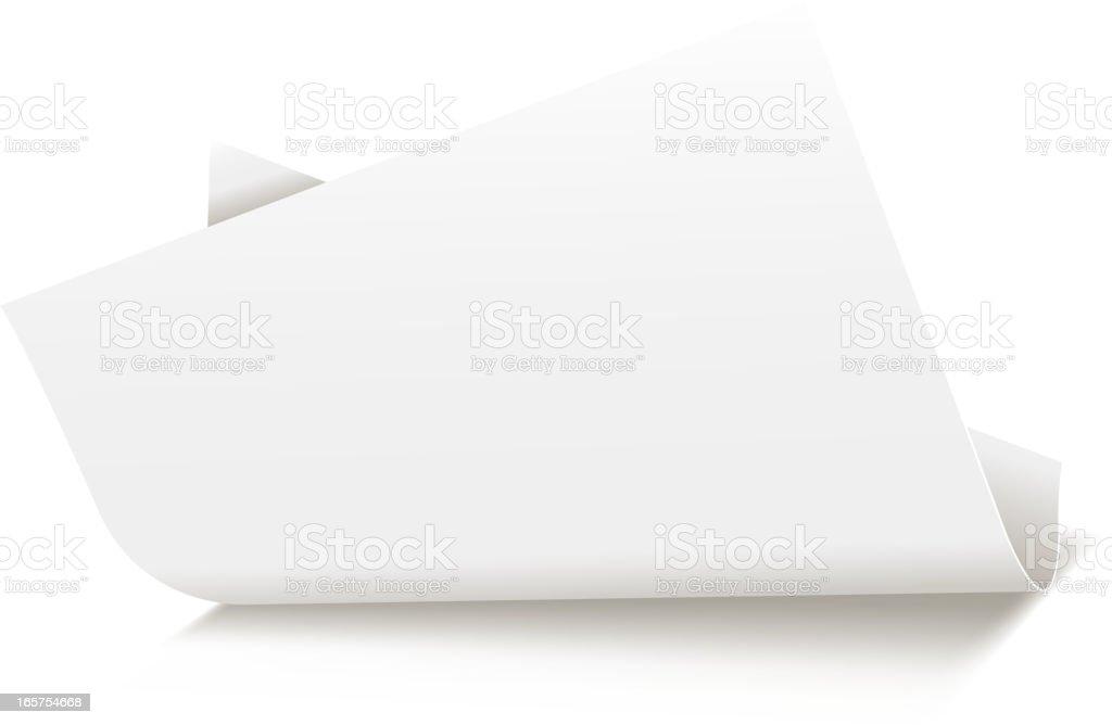 white blank curled paper vector art illustration