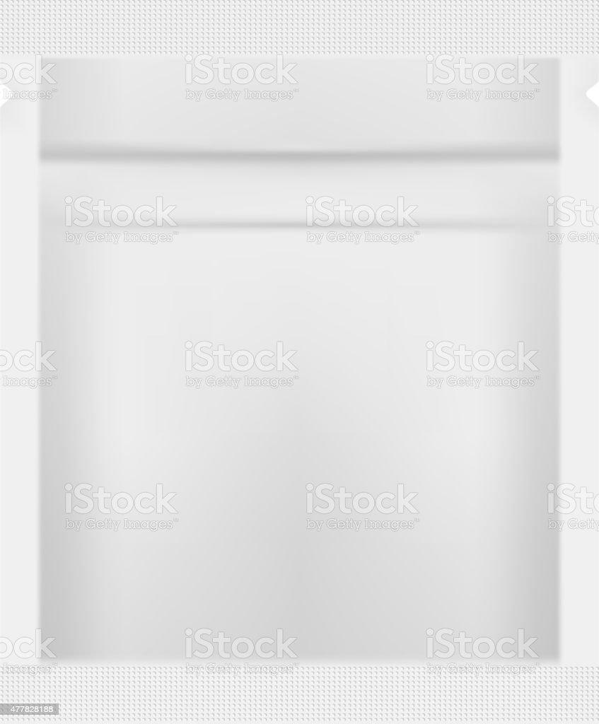 White Blank Foil Packaging Template Vector vector art illustration