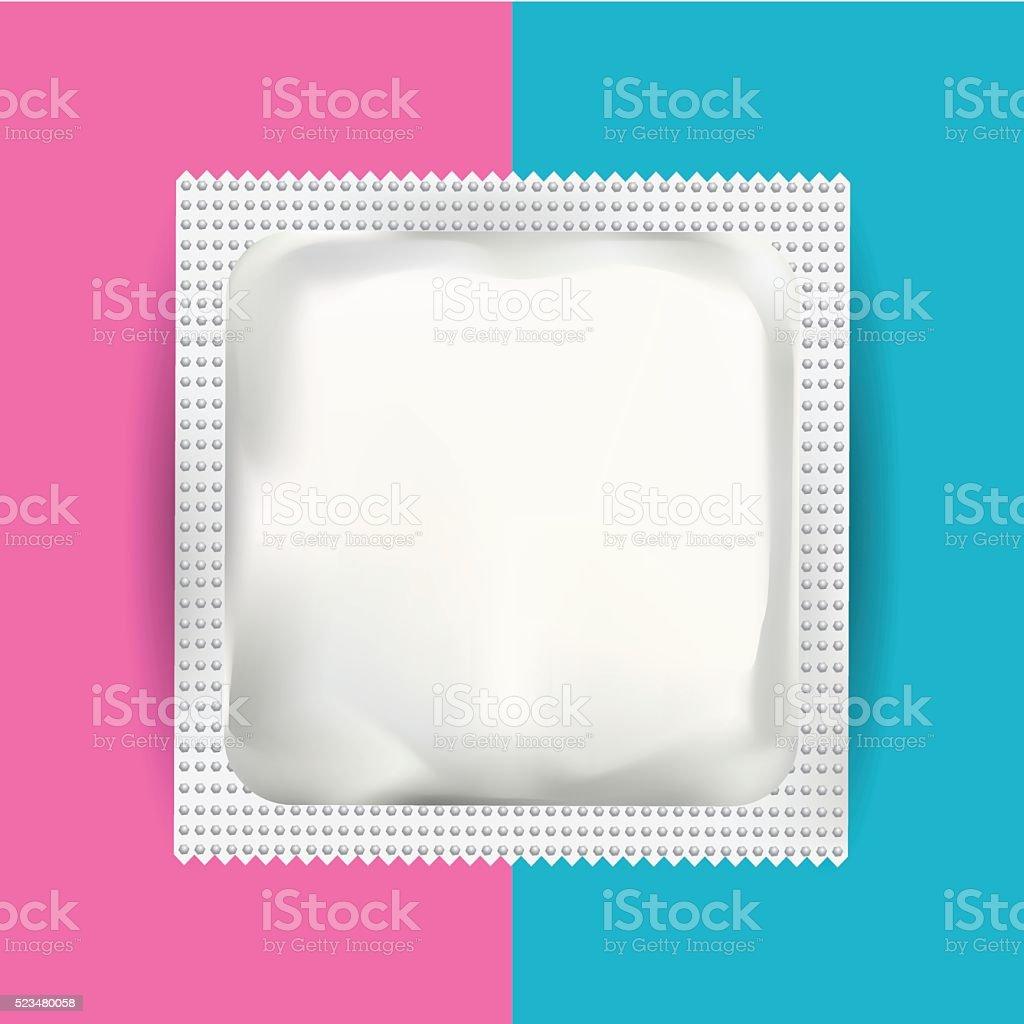 White Blank Foil Pouch Packaging vector art illustration