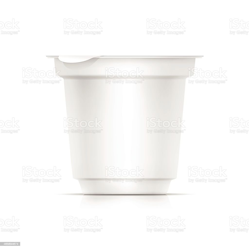 A white blank food package container vector art illustration