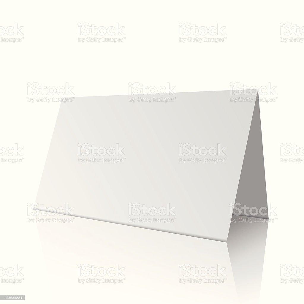 White blank paper card vector art illustration