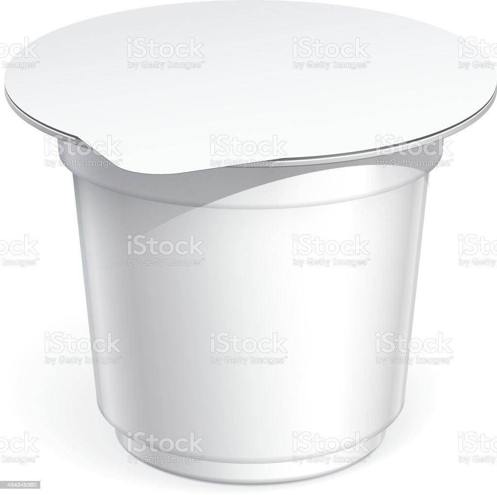 White blank plastic container vector art illustration
