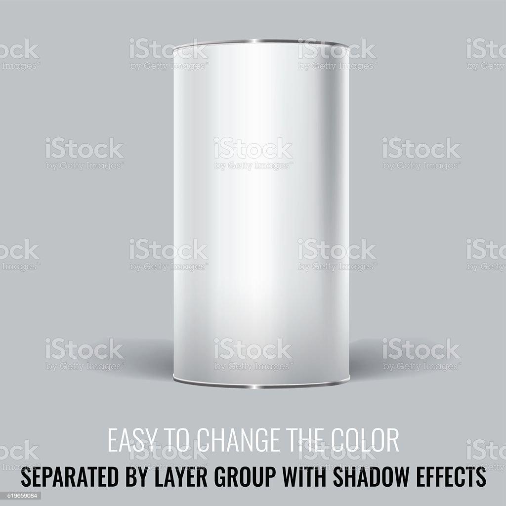 White Blank Tincan packaging. Vector Mock up design. vector art illustration