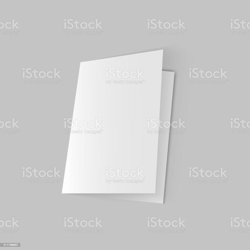 White blank vector art illustration