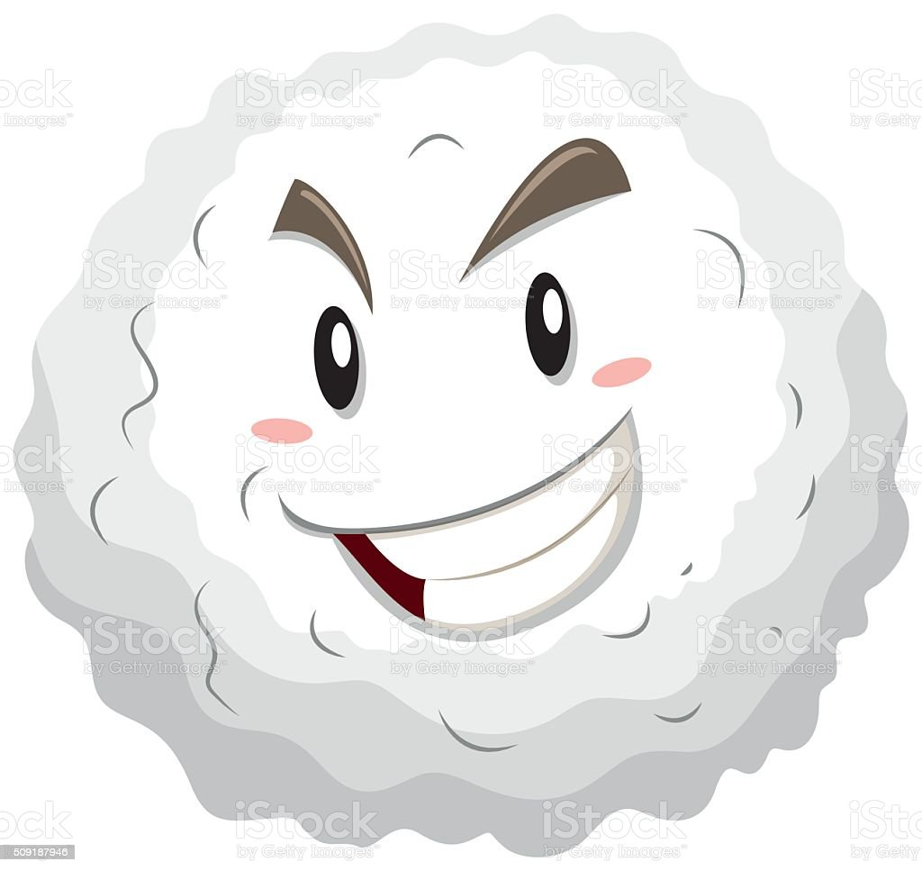 White blood cell happy face vector art illustration