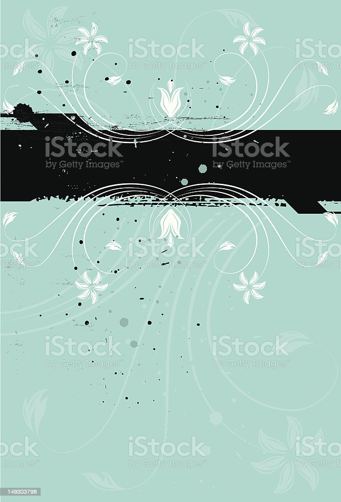White blue florals royalty-free stock vector art