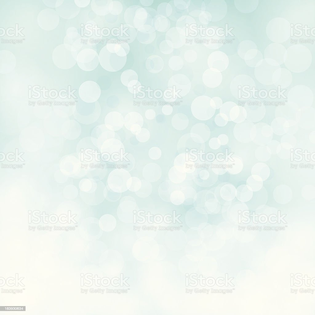 White bokeh on pale green vector background royalty-free stock vector art