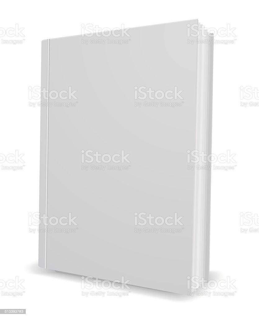 white book 3d icon vector art illustration