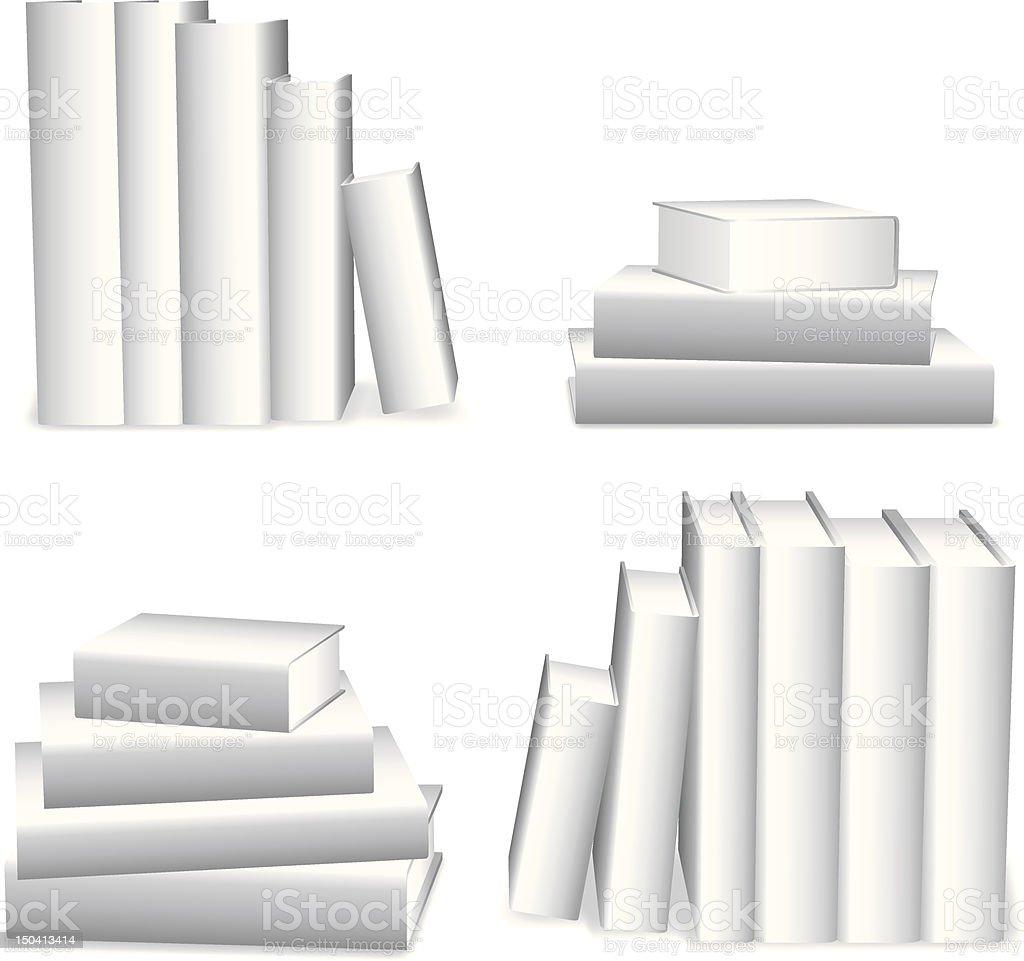 White books. royalty-free stock vector art