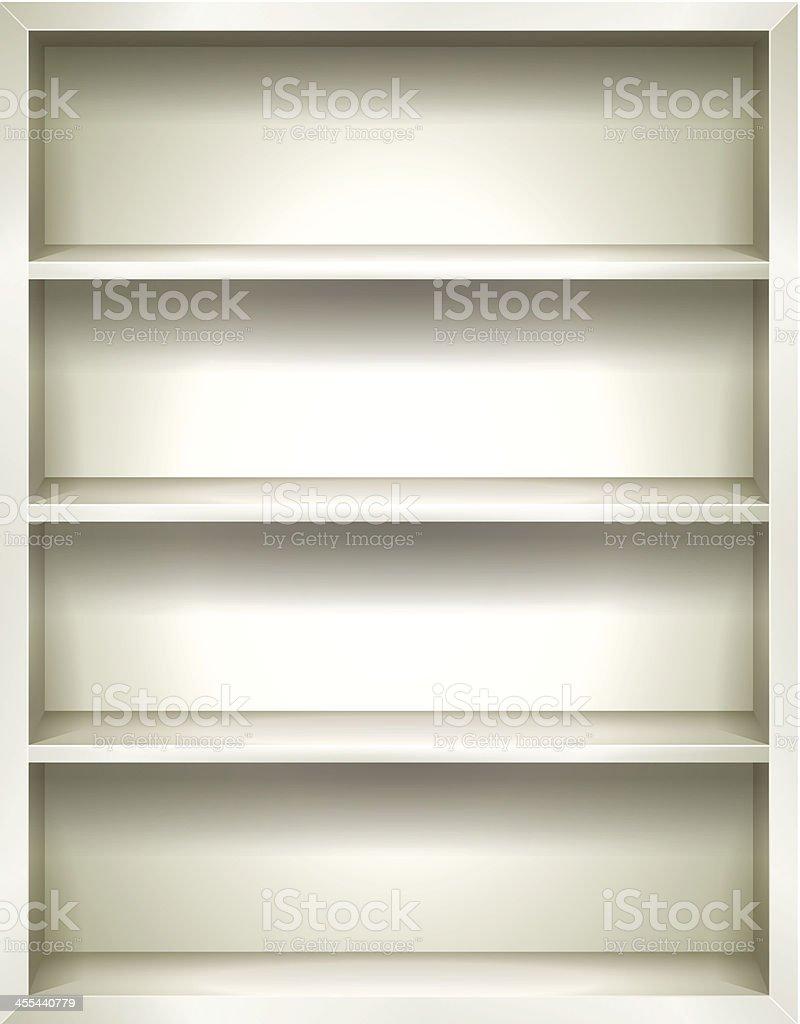 White Bookshelves Background royalty-free stock vector art