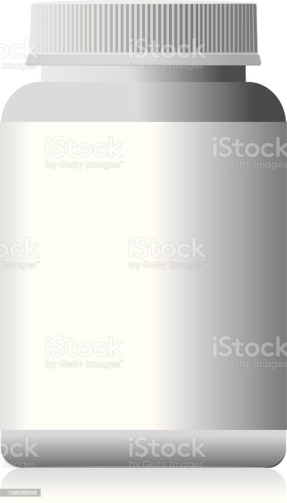 White bottle. royalty-free stock vector art