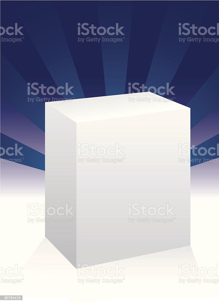 White box for design royalty-free stock vector art