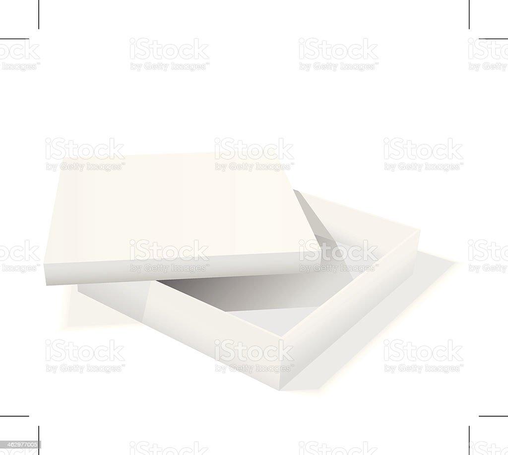 white box vector art illustration