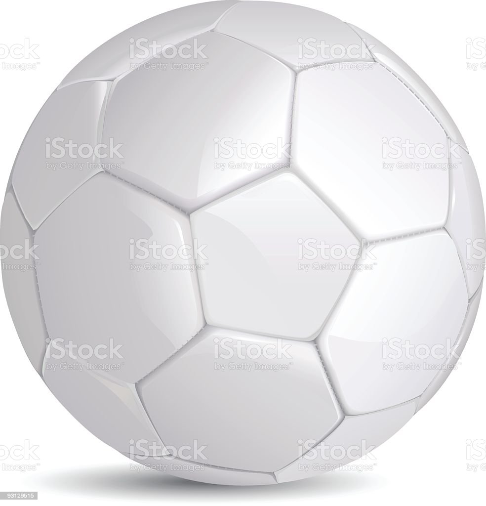 White brand new soccer ball on a white background royalty-free stock vector art