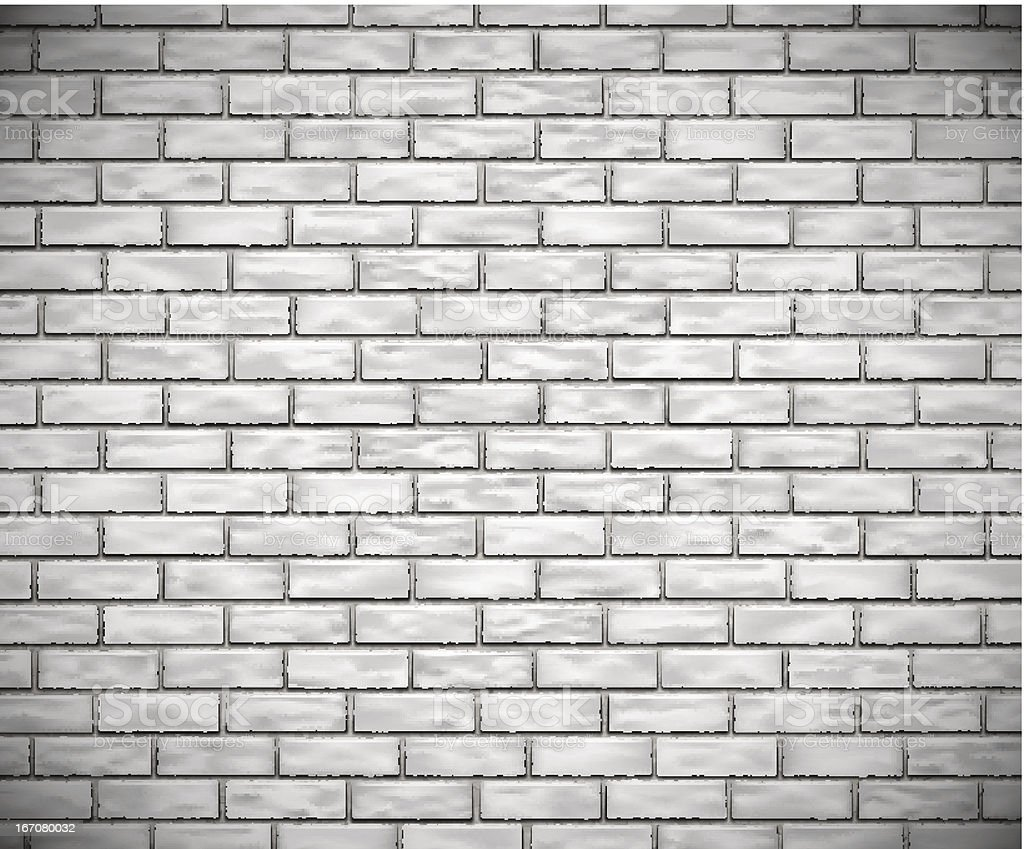 White brick wall royalty-free stock vector art