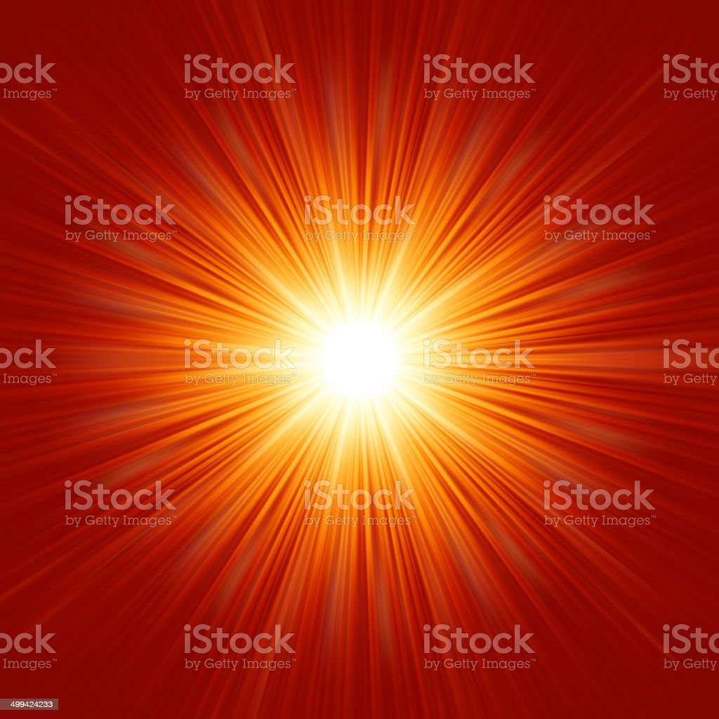 White bursting star isolated in red space. EPS 8 vector art illustration