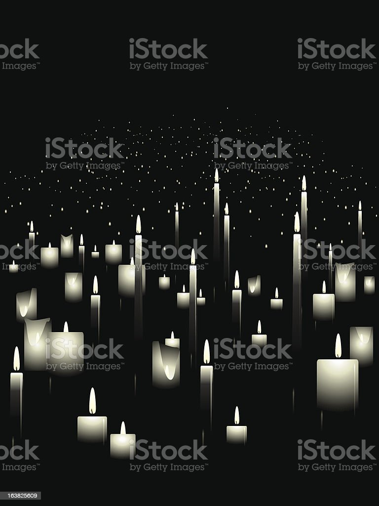 White candle background royalty-free stock vector art