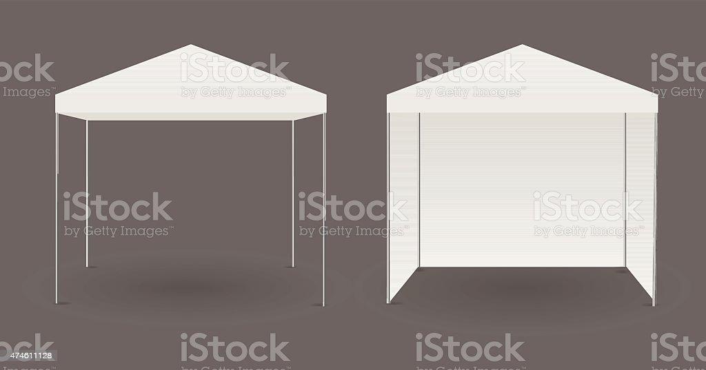 White canopy or tent vector art illustration