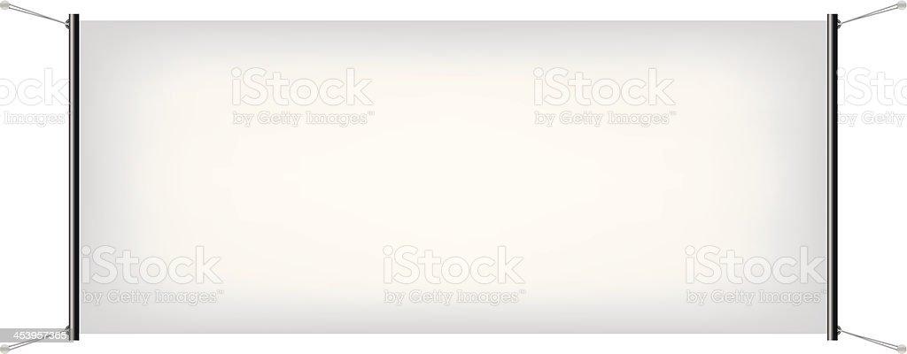 White Canvas Banner vector art illustration