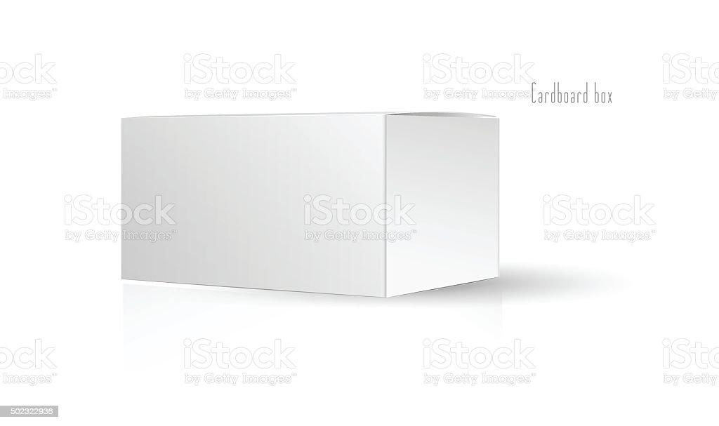 Pacote de Caixa de Papelão branco. Ilustração de vetor e ilustração royalty-free royalty-free