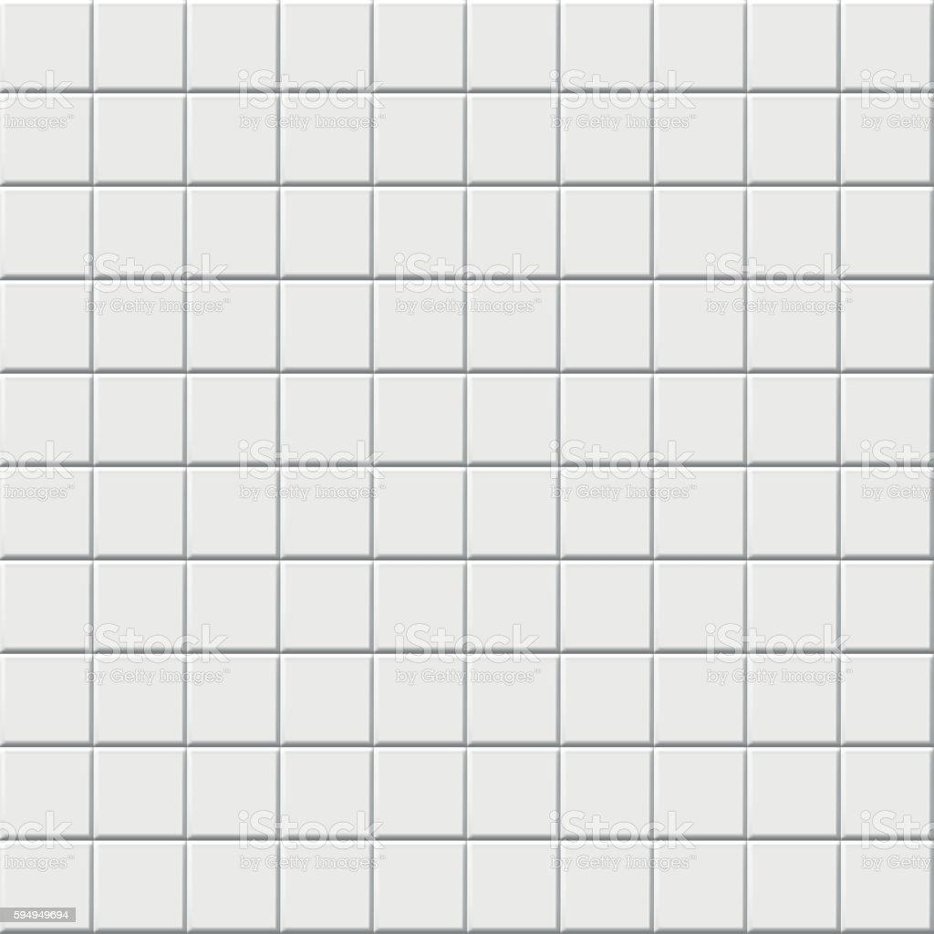 Kitchen Tile Background white ceramic tile background stock vector art 594949694   istock