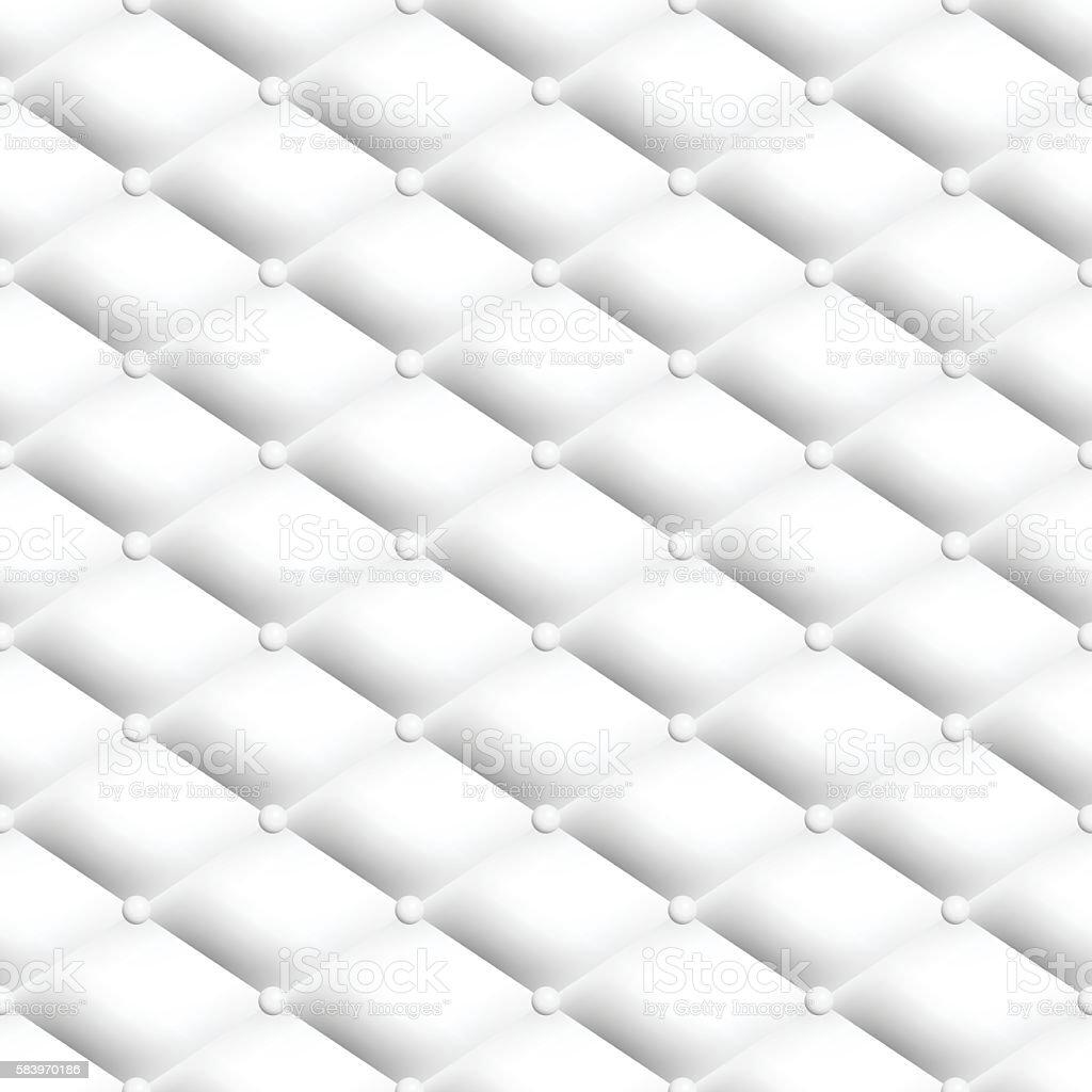white chesterfield pattern vector art illustration