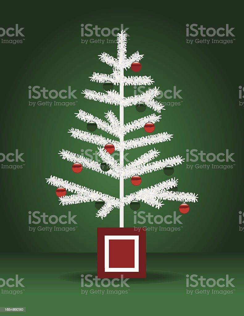 White Christmas Tree royalty-free stock vector art