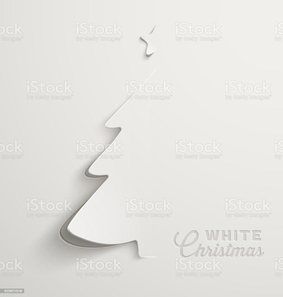 White Christmas vector art illustration