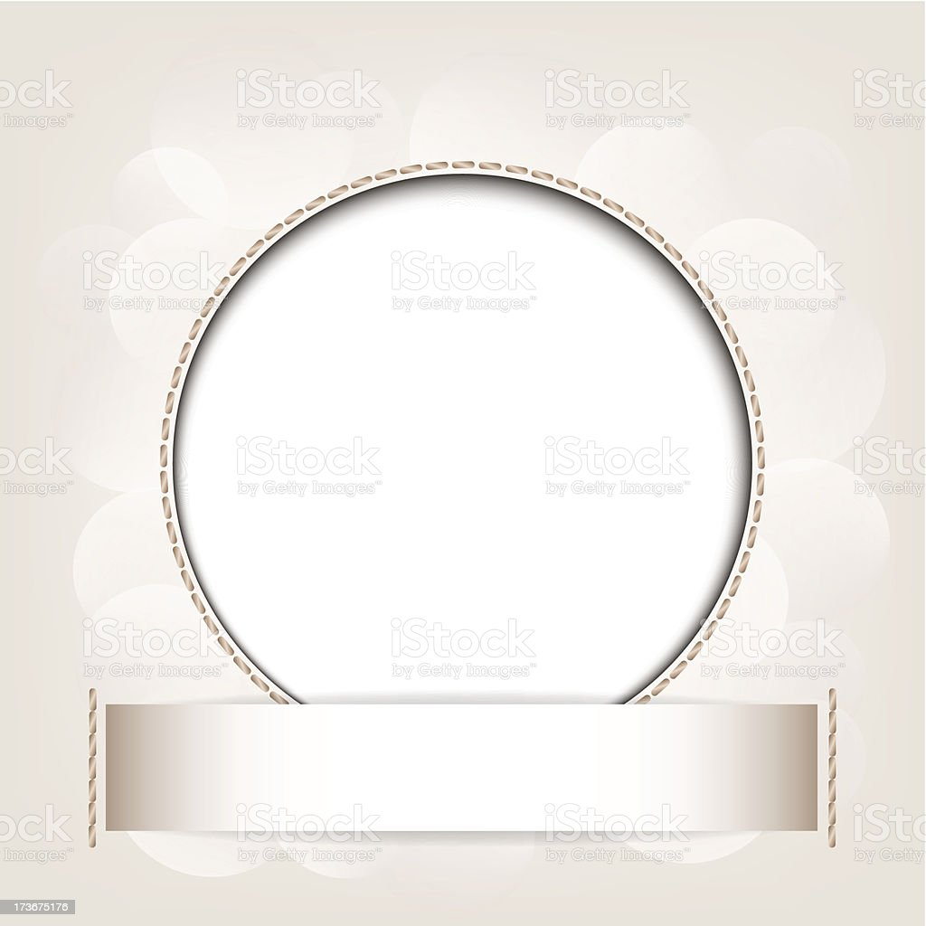 White circle on beige abstract background. royalty-free stock vector art