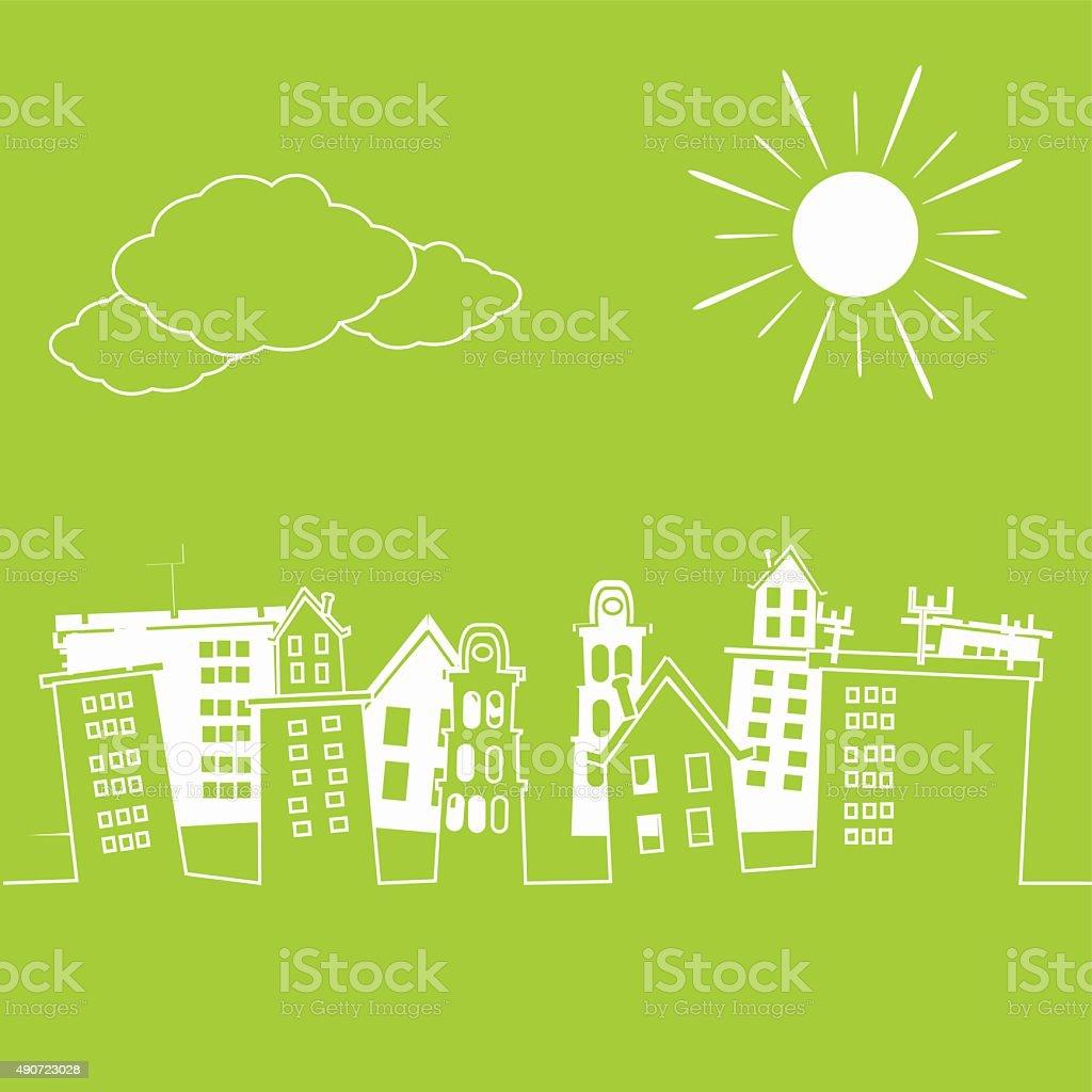 White City vector art illustration