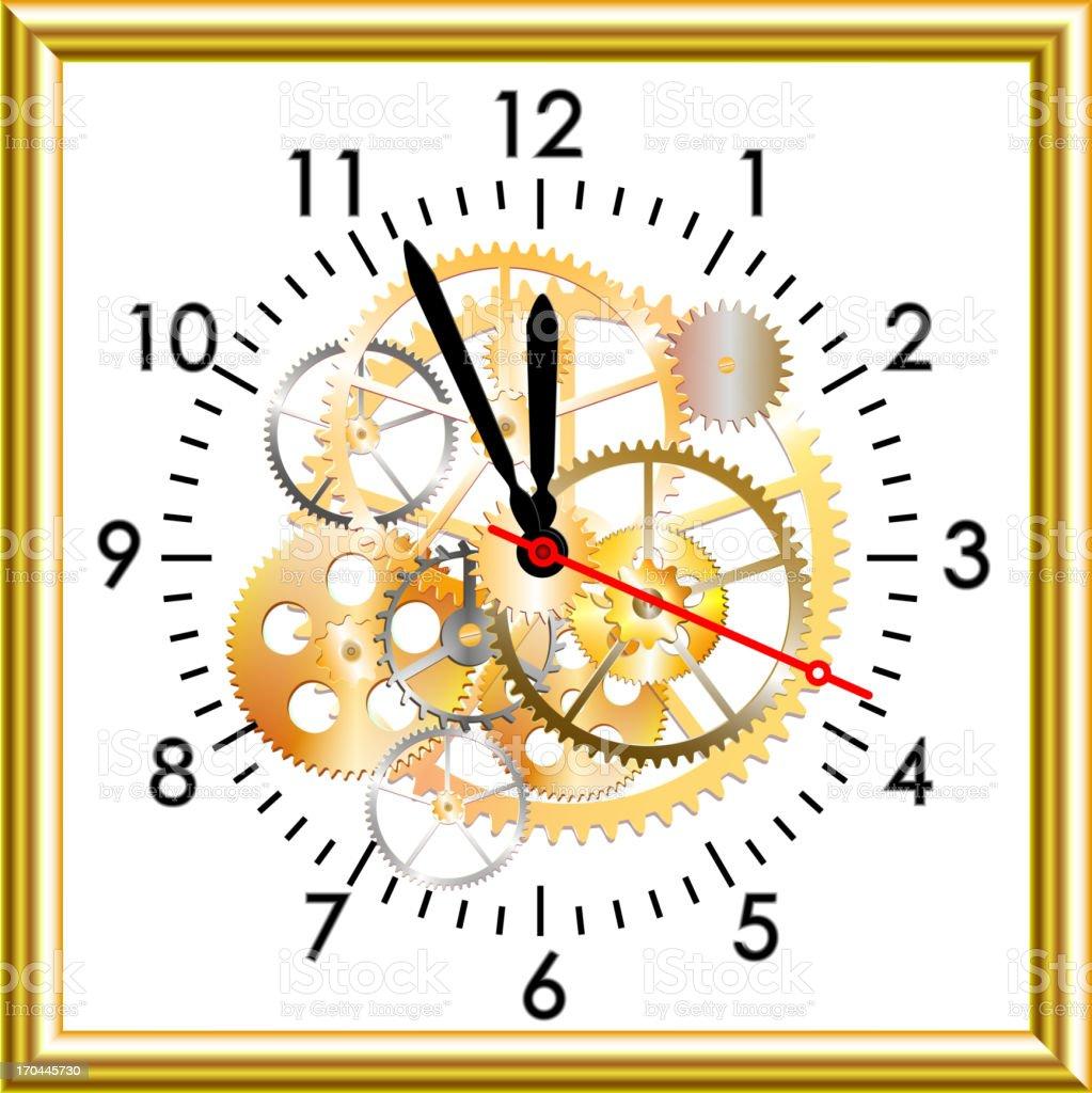 white clock royalty-free stock vector art