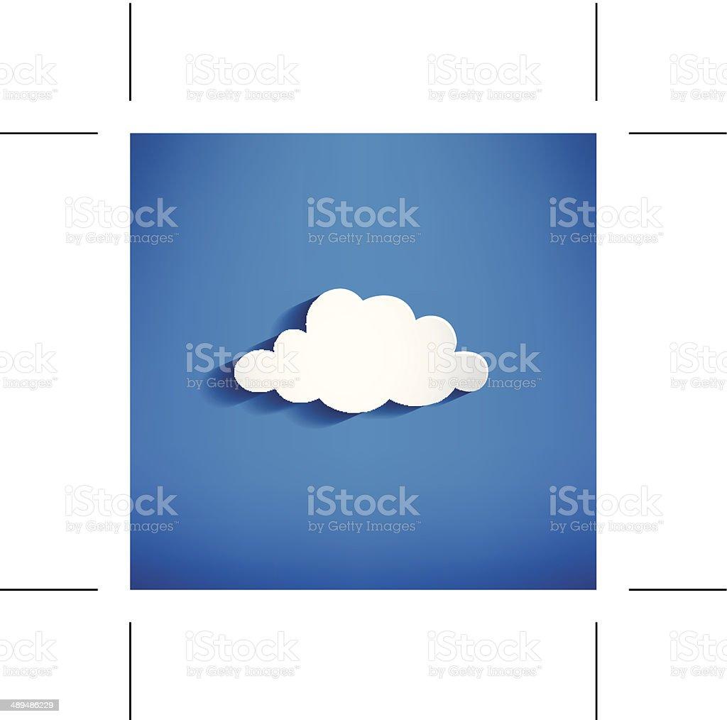 white cloud  - Illustration vector art illustration