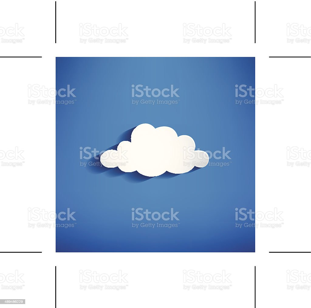 white cloud  - Illustration vector art illustration
